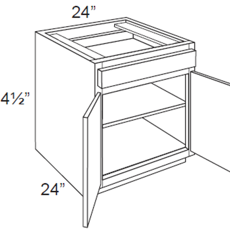 Double Door Base Cabinets - 24W x 34.5H, B24