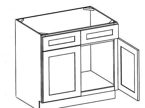 Cherry Shaker Vanity Sink Base Cabinet - 36W x 32.5H, VSB3621