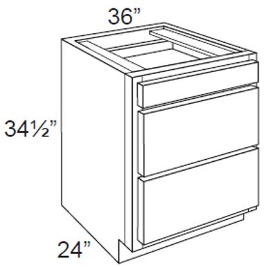3 Drawer Base Cabinet - 3DB36, 36W x 34.5H