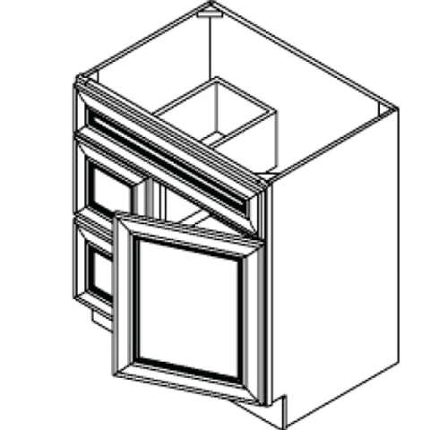 Vanity Cabinet - 24W x 32.5H, VSD2421
