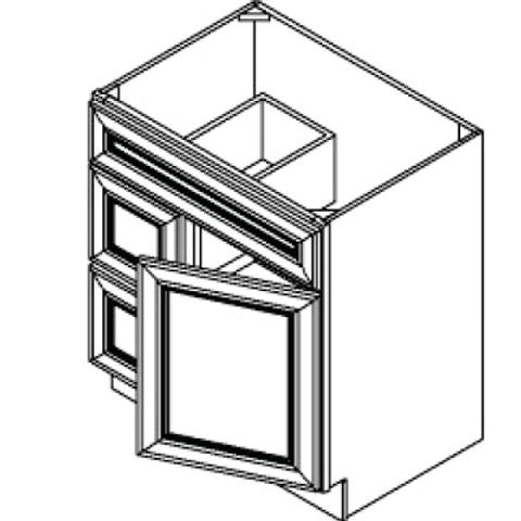 Birch Shaker Vanity Cabinet - 24W x 32.5H, VSD2421