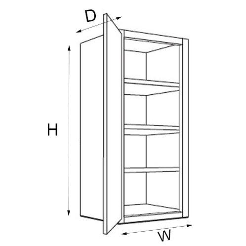 """40"""" High Single Door W06, 09, 12, 15, 18, 21"""