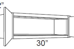 """Birch Shaker 12"""" Deep Small Wall Cabinets - 30W x 12H x 12D, W3012"""