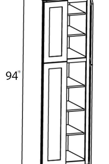 """Cherry Shaker 4 Door Pantry Cabinet 94""""H - 36W x 94H, UT3694"""