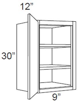 """Cherry Shaker 30"""" High Single Door - 9W x 30H x 12D, W0930"""