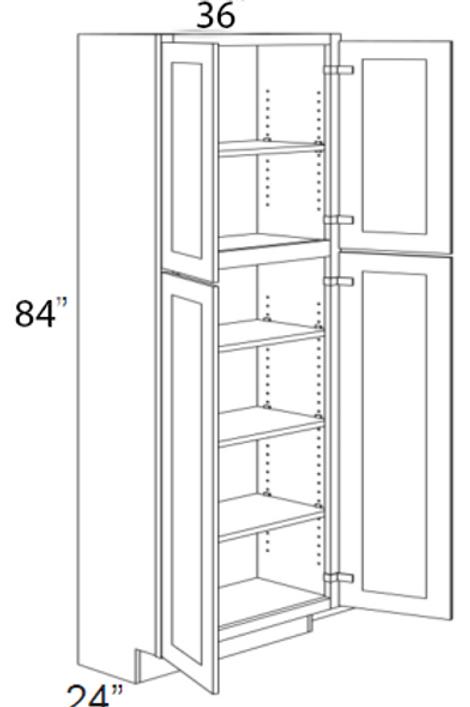 """4 Door Pantry 84"""" UT24, 30, 36"""