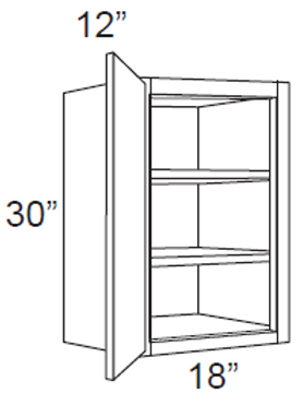 "30"" High Single Door - 18W x 30H x 12D, W1830"