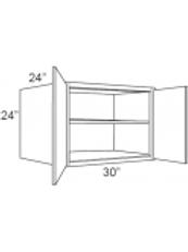"Cherry Shaker 24"" Deep Wall Cabinets - 30W x 24H x 24D, W302424"