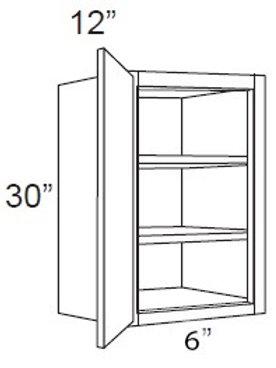"""Cherry Shaker 30"""" High Single Door - 6W x 30H x 12D, W0630"""