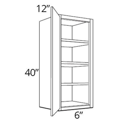 "Bamboo Shaker 40"" High Single Door - 6W x 40H x 12D, W0940"