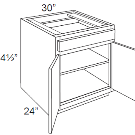 Double Door Base Cabinets - 30W x 34.5H, B30