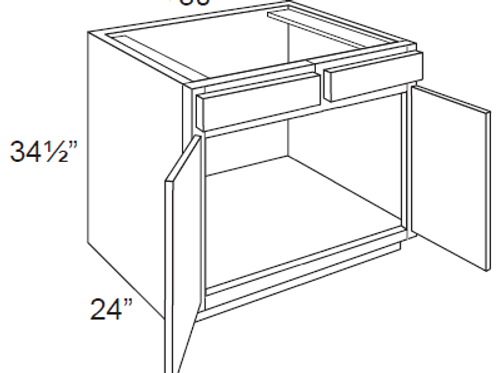 Cherry Shaker Sink Base Cabinet - 30W x 34.5H, SB30