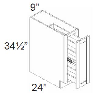 Spice Rack Cabinet - 9W x 34.5H x 24D, SP09