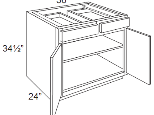 Double Door Base Cabinets - 36W x 34.5H, B36
