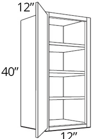 "Cherry Shaker 40"" High Double Door - 33W x 40H x 12D, W3340"