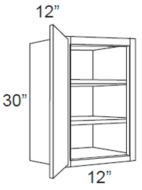 "Birch Shaker 30"" High Single Door - 12W x 30H x 12D, W1230"