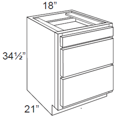 Bamboo Shaker Vanity Cabinet - 18W x 32.5H, VDB1821