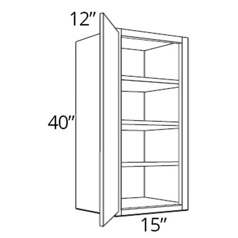 "Cherry Shaker 40"" High Single Door - 15W x 40H x 12D, W1540"