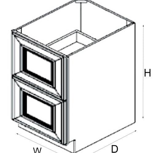 2 Drawer Base 2DB24, 30, 36