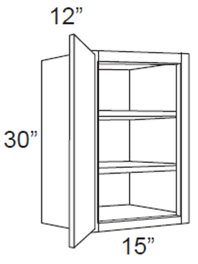 "Birch Shaker 30"" High Single Door - 15W x 30H x 12D, W1530"