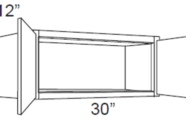 "12"" Deep Small Wall Cabinets - 30W x 15H x 12D, W3015"