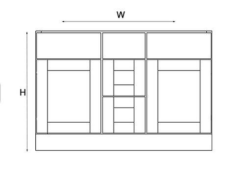 Vanity and Drawer Base VAD 48