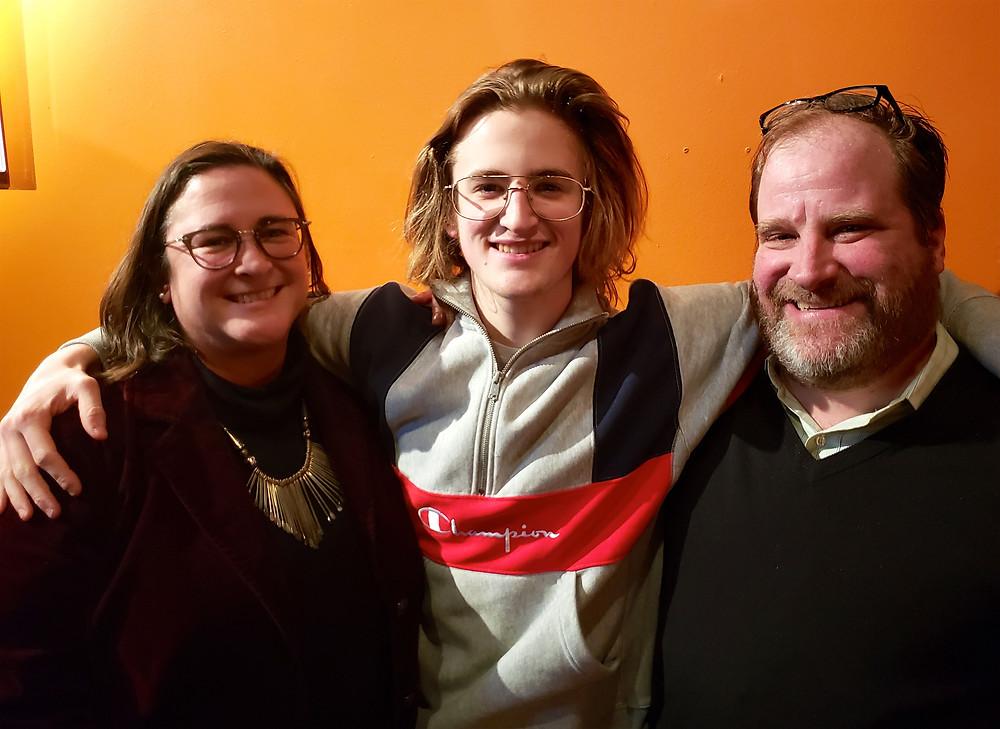 The Cushman / Brandjeses: Elizabeth, Owen, and Christian