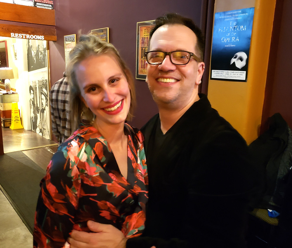 Buffalo Quickies at Alleyway Theatre, Carly Weiser and costume designer James Cichocki