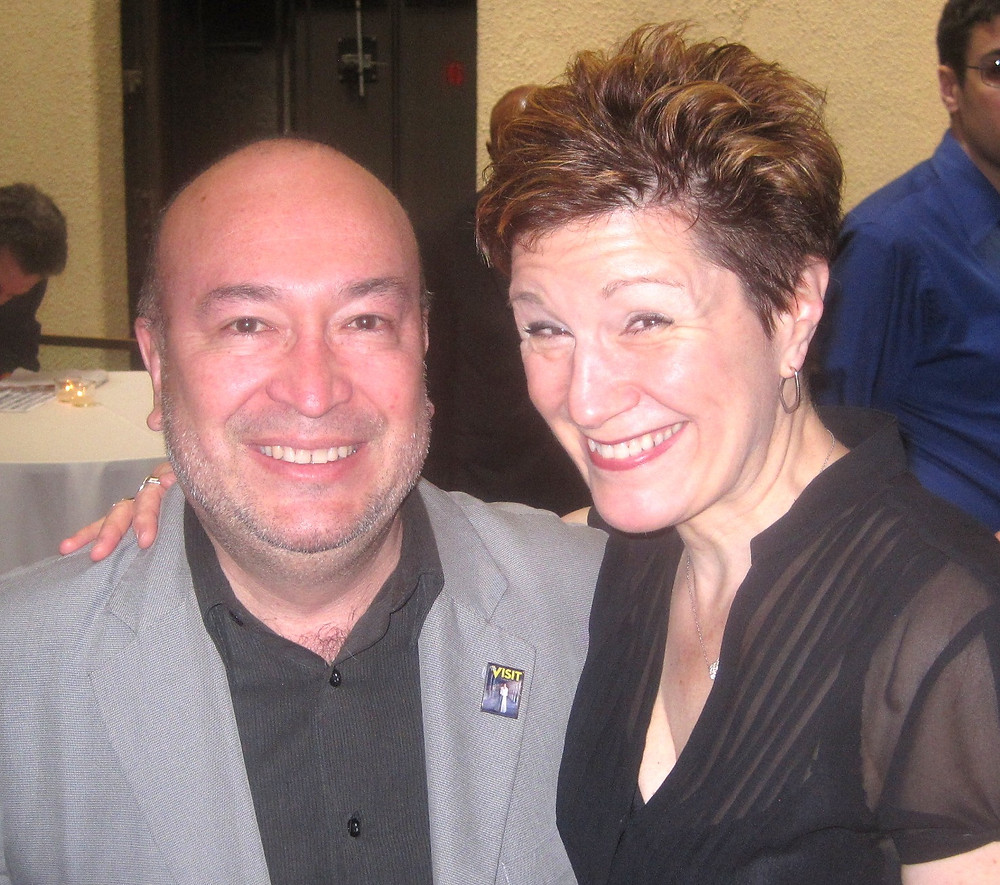 "Javier Bustillos and Lisa Kron, author of ""Fun Home"""