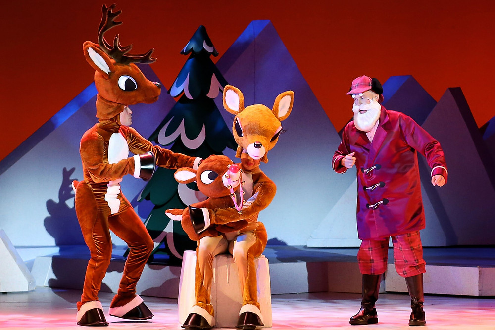 """""""Rudolph the Red-Nosed Reindeer the Musical"""" at Shea's. Photo credit: Character Arts"""
