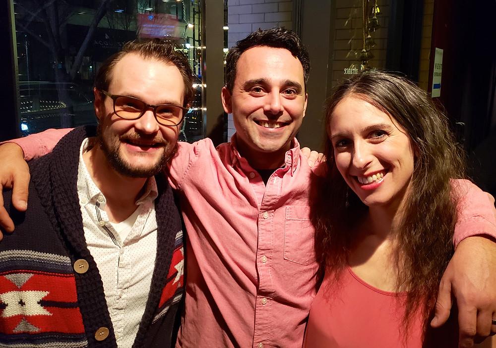 Patrick Cameron, Brandon Barry and Megan Callahan
