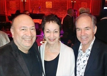 Javier with Lynn Ahrens and Stephen Flaherty at 54 Below in NYC