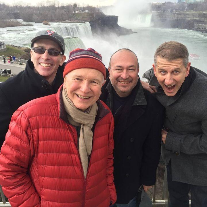 Anthony Chase, Terrence McNally, Javier Bustillos, and Tom Kirdahy at Niagara Falls