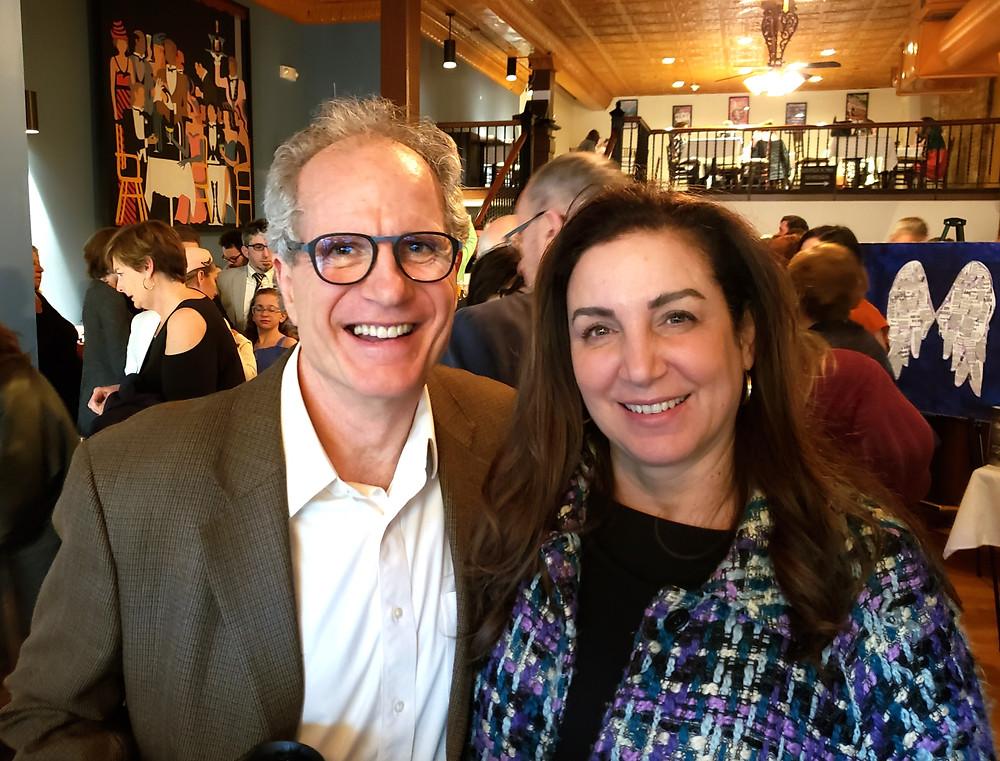 Second Generation Theatre Buffalo Board member Frederick McAdam with Maria Gambino