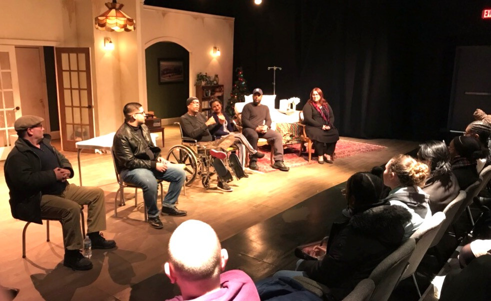 """A fabulous talk back for Buffalo State Theater majors with the cast of """"Between Riverside and Crazy"""" at Road Less Traveled"""