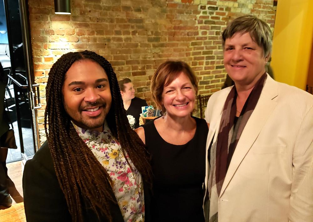 Actors Raphael Santos and Mary McMahon with Marj Jakiel Second Generation Theatre Buffalo