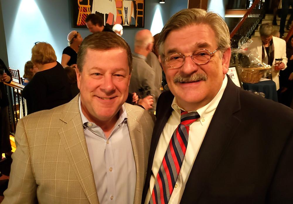 Shea's president Michael Murphy with actor Steve Jakiel Buffalo Second Generation Theatre