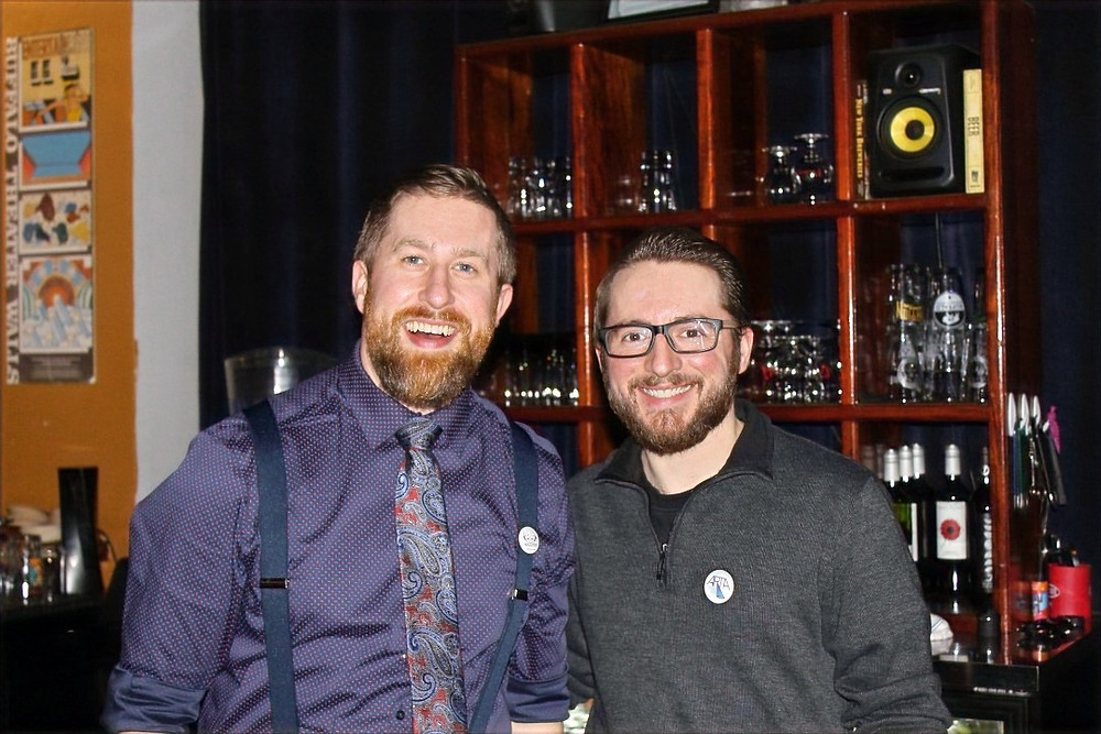 Bartender hosts extraordinaire, Rex Keppel and Kevin Shanahan, who opened Matinee especially for the event