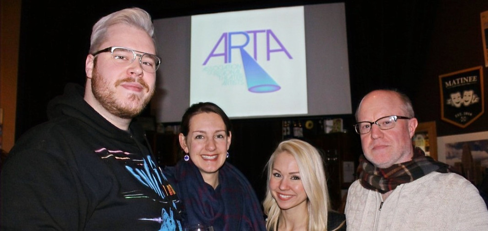 Dave Spychalski, Second Generation Theatre Artistic Director Kelly Copps, Bethany Burrows, MusicalFare Managing Director Doug Weyand