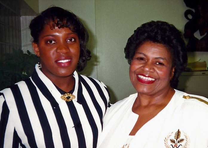 Miss Bain with longtime Robeson artistic director Paulette Harris