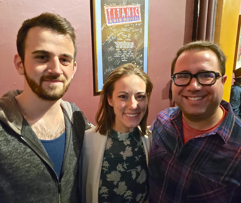 "Anthony Grande from ""The Boys Upstairs,"" dramaturg/director Katie Mallinson, and Jacob Albarella of ""To Kill a Mockingbird"""