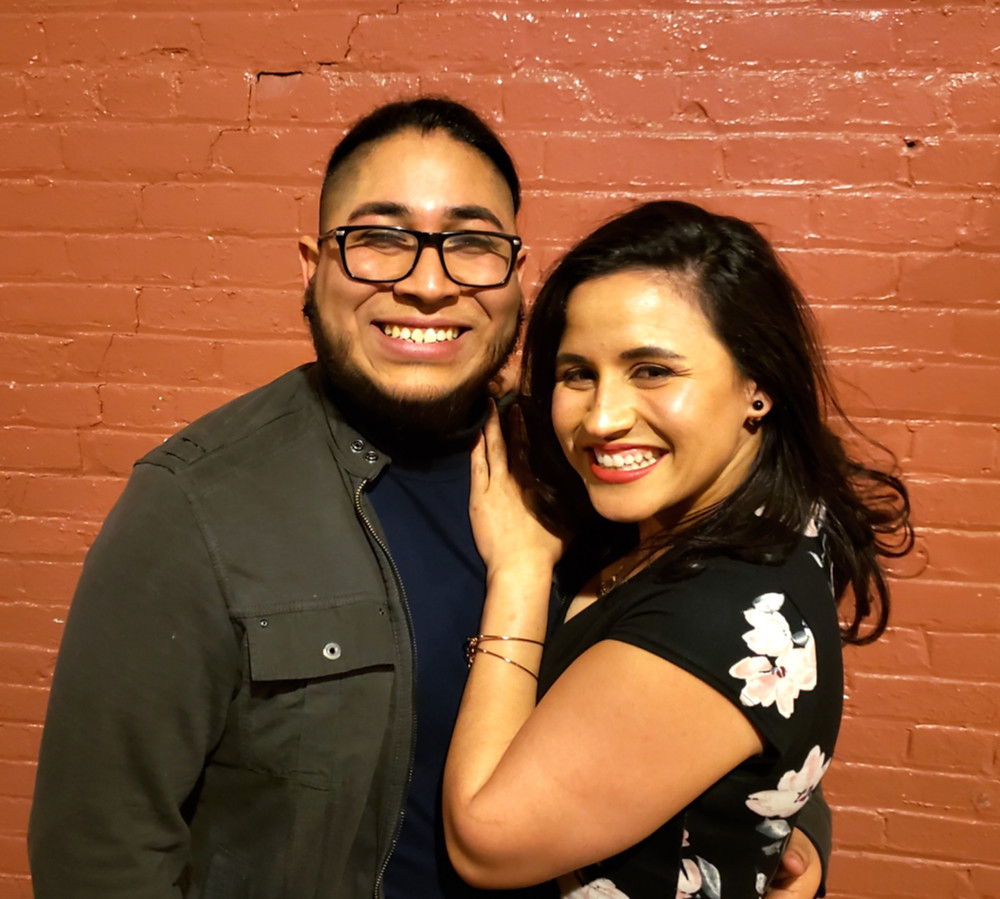 Actor Melinda Capeles attends the opening night and visits with actor Rolando Martín Gómez hijo, who makes his Buffalo stage debut. (See you at the Arties, Rolando -- Monday, June 3rd) Raices Theatre Company, Buffalo