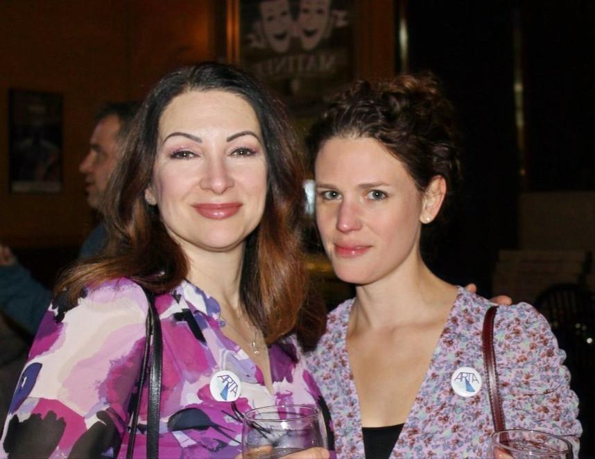 Diane DiBernardo and Amelia Scinta, Chair of the Education Committee