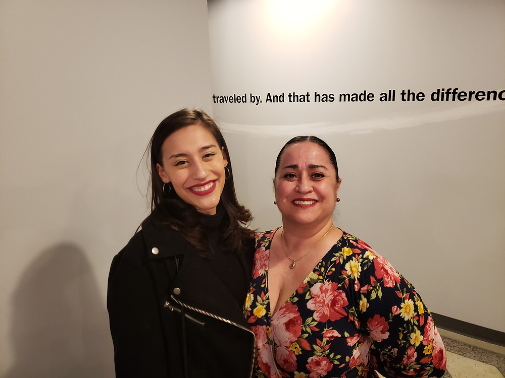 """Lissette DeJesus and María Pérez-Gómez At the opening of """"Between Riverside and Crazy"""" at Road Less Traveled Theater in Buffalo"""