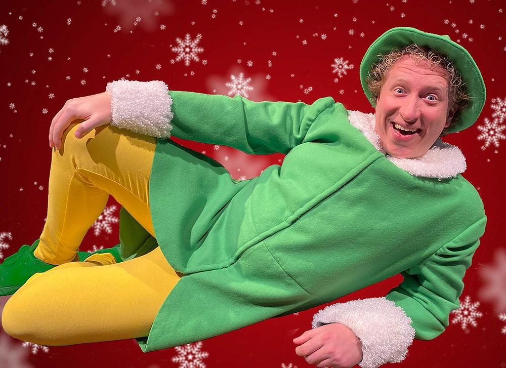 Chris J. Handley as energetic Buddy the Elf. Photo by Doug Weyand