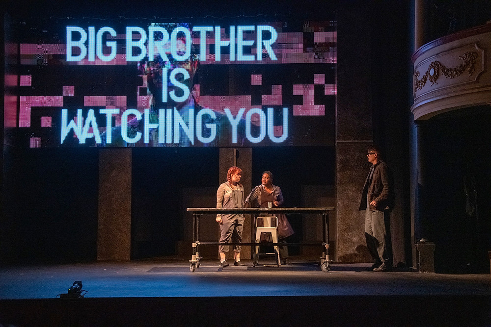 """""""1984"""" opens this week at the Kavinoky Theatre. Robyn Baun, Shanntina Moore, Chris Avery. Photo: Gene Witkowski"""