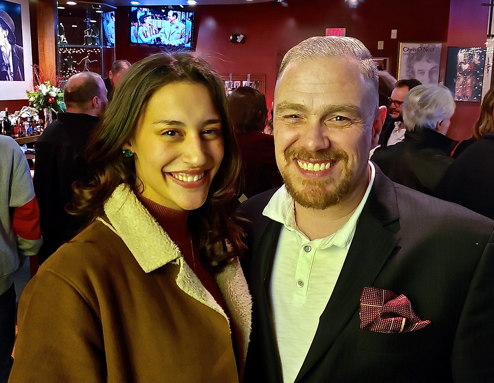 Lisette DeJesus and the show's director, Chris Kelly