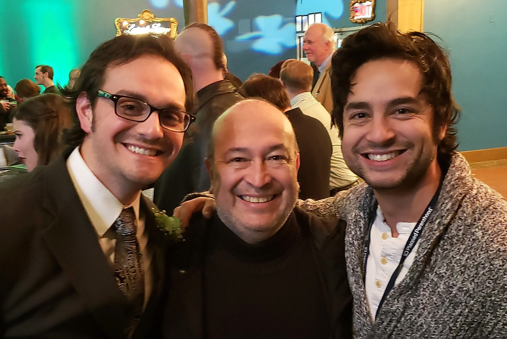 Adriano Gatto, Javier Bustillos, and Anthony Alocer, at Irish Classical Theatre in Buffalo, New York