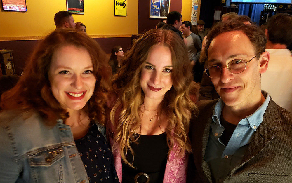 "Toasts the the town, Melissa Levin, Cassie Cameron, and Jordan Levin -- coming from ""Parade,"" ""Princess Bride,"" ""Parade."" Two storied productions!"