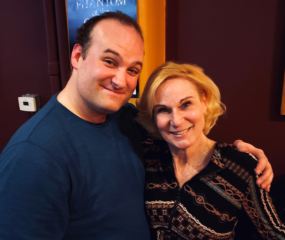 "Jeffrey Coyle from ""The Undeniable Sound of Right Now"" at Road Less Traveled with Lisa Ludwig who is starring in ""Annapurna,"" the two-hander at the New Phoenix Theatre in Buffalo, New York at Matinee tavern"